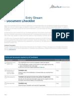 Alberta Express Entry Stream - Document Checklist