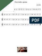 Dois dedos apenas - José Galvão - Partitura para Educação Musical
