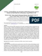 Cinetica Termodinamica y Adsorcion BTX en Carbon