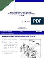 Funcionamiento Electrovalvulas  PC5500 komatsu