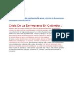 Crisis de La Democracia Colombiana