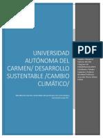 cambio climatico y sintesis del 2do congreso de rehabilitacion ciudad del carmen
