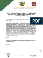 Artículo de La Construcción Investigativa a La Realidad Aplicada PAULA MORA