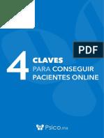 Psico.mx - 4 Claves Para Conseguir Pacientes Online