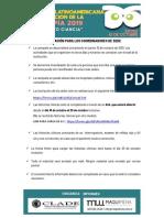 Información Para Coordinadores de Sede