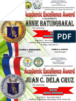 Classroom Based Certificate 2018-2019 by Sir JC