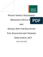 Google and Microsoft Privacy Impact Assessment