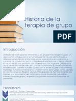 Historia de La Terapia de Grupo