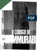 O CÓDIGO DE HAMURABI. INTRODUÇÃO, TRADUÇÃO E COMENTÁRIOS DE . BOUZON. E..pdf
