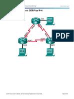 LAB4C 6.4.3.5 Lab - Configuring Basic EIGRP for IPv6