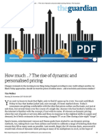 How Much …_ the Rise of Dynamic and Personalised Pricing _ Money _ the Guardian