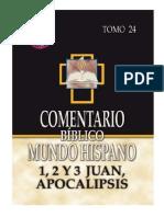1,2 y 3 Juan + Apocalipsis - Comentario Mundo Hispano (Tomo 24)
