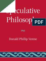 Donald Phillip Verene - Speculative Philosophy (2009, Lexington Books).pdf