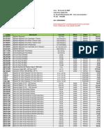 Lista de Precios de material de laboratorio