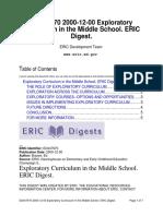 exploratory curriculum