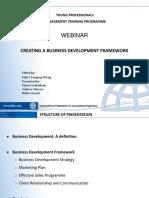 Creating a Business Development Framework