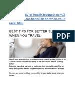 BEST TIPS FOR BETTER SLEEP    WHEN YOU TRAVEL-