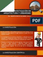La Investigación en Arquitectura y Urbanismo