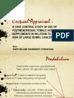 Critical Appraisal - Large Bowel Cancer