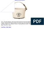 Klein 5113 No. 6 Canvas Tapered-Wall Bucket