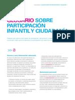 UNICEF. Glosario Sobre Participación Infantil y Ciudadana