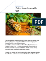 Benefits of Eating Neem Leaves on Empty Stomach