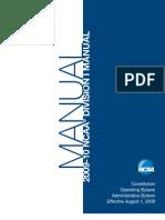 NCAA Division 1 Manual