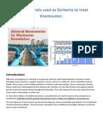 Nano Materials used in Sewage Treatment
