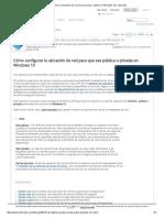 Establecer la ubicación de red como privada o pública en Windows 10 _ Tutoriales.pdf