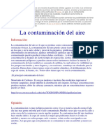 La contaminación del aire es una mezcla de partículas sólidas y gases en el aire.docx