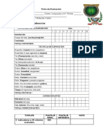 Rubricas Para Evaluar II - Ciclo