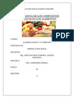 Importancia de Los Compuestos Orgánicos en Los Alimentos
