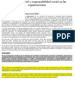 Ética Empresarial y Responsabilidad Social en Las Organizaciones