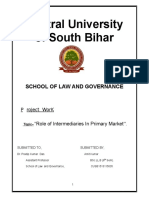 ROLE OF INTERMEDIARIES IN PRIMARY MARKET
