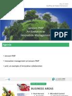 Janssen PMP An Evolution in Innovation Management