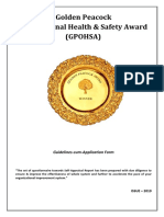 Golden Peacock Occupational Health & Safety Award (GPOHSA)