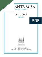 Misa l Julio 2019