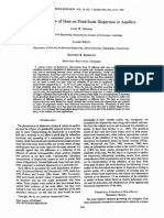 A Critical Review of Data on Fieldscale Dispersion in Aquifers