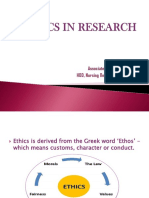 Ethics in Research Archana