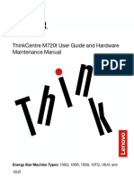 ThinkCentre M720t User Guide and Hardware Maintenance Manual