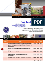 Intrinsic Extrinsic Key Quality Characteristics of Food