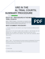 rules on summary procedure