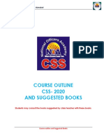 Course Outline and Recommended Books