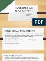 Mandibular Movements