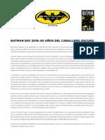 BATMAN DAY 2019 - 80 AÑOS DEL CABALLERO OSCURO