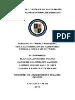 Constitución Del Patrimonio Familiar - NOTARIAL Word