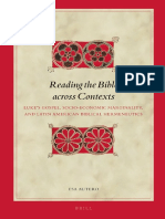Reading the Bible Across Contexts. Luke's Gospel and Latin American Hermeneutics (E.J. Autero)
