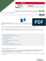 Configuración de Malwarebytes Antimalware