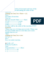 Order of Reaction 2 Part