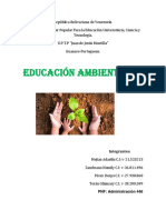 INFORME de Ed. Ambiental Ecologia
